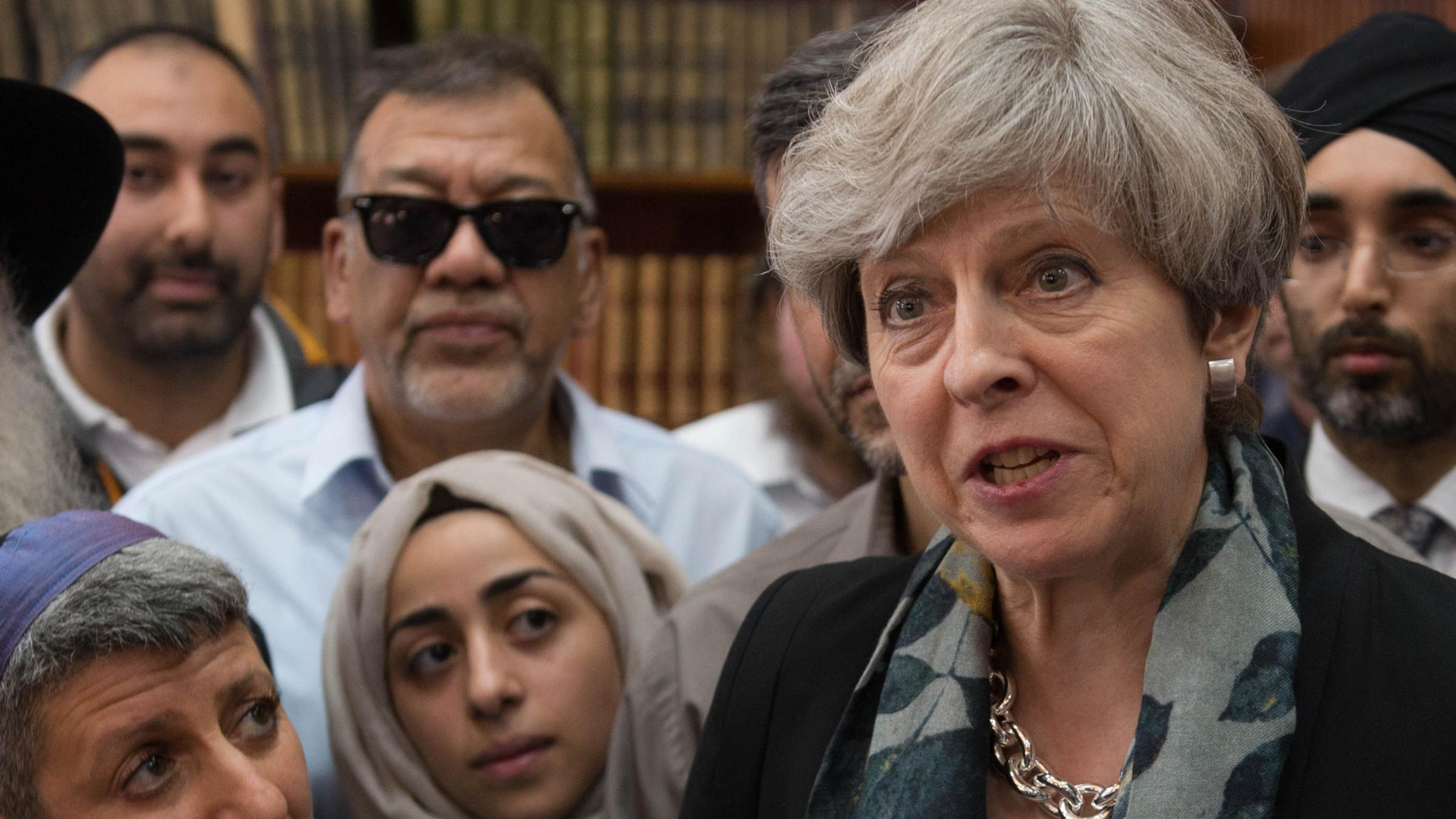 Theresa May heckled after visiting Finsbury Park Mosque